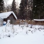 На дачном участке баня, теплицы, хозяйственные постройки